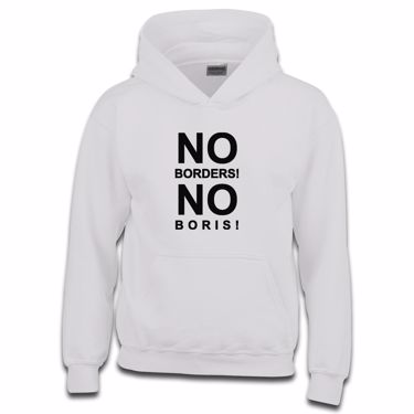 Picture of Eu Referendum Vote Remain No Borders No Boris Girls Hoodie
