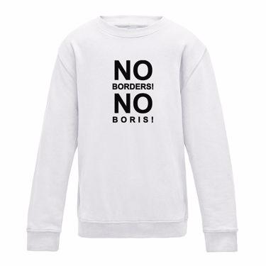 Picture of Eu Referendum Vote Remain No Borders No Boris Girls Sweatshirt