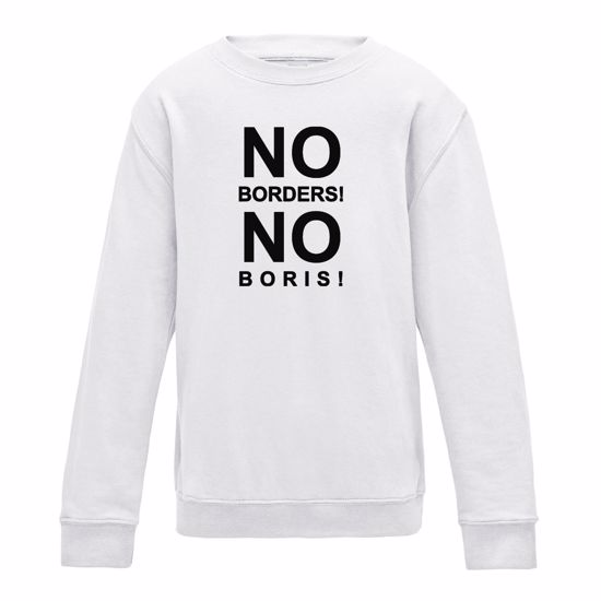 Picture of Eu Referendum Vote Remain No Borders No Boris Mens Sweatshirt
