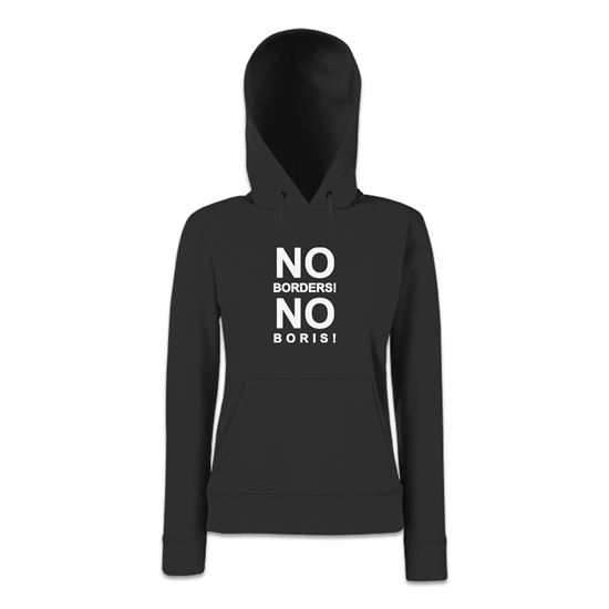 Picture of Eu Referendum Vote Remain No Borders No Boris Womens Hoodie