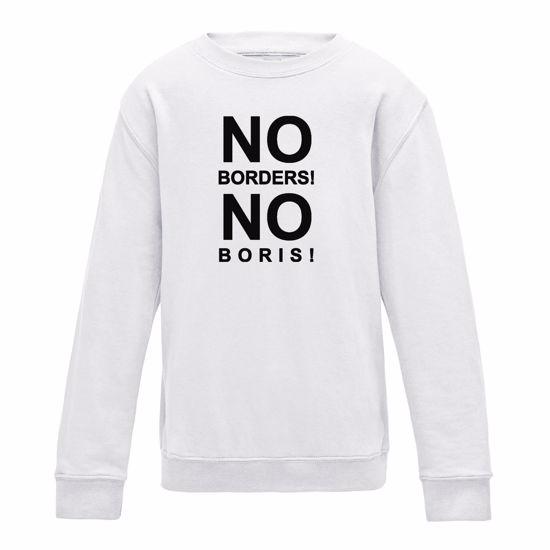 Picture of Eu Referendum Vote Remain No Borders No Boris Womens Sweatshirt