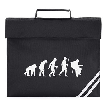 Picture of Evolution Of Man Acoustic Guitar Musician Book Bag