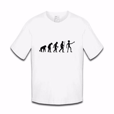 Picture of Evolution Of Man Alien Boys Tshirt