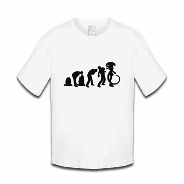 Picture of Evolution Of Man Alien Ripley Egg Mother Boys Tshirt