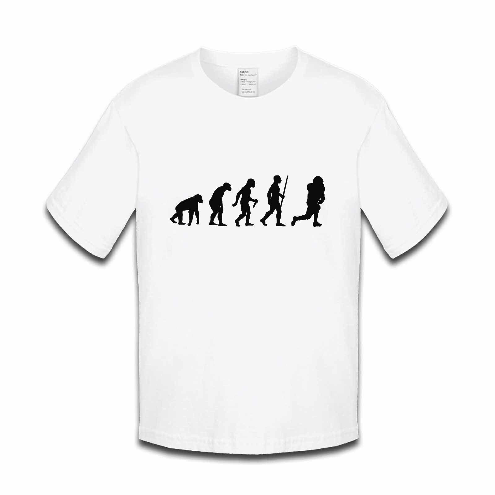 77ca20c4 Picture of Evolution Of Man American Football Foot Ball Usa Nfl Boys Tshirt