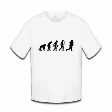 Picture of Evolution Of Man American Football Foot Ball Usa Nfl Boys Tshirt