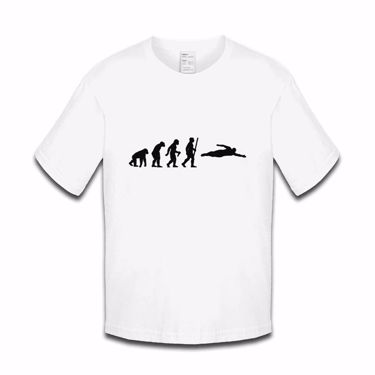 Picture of Evolution Of Man Ape To Swimmer Boys Tshirt