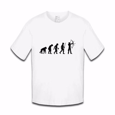 Picture of Evolution Of Man Archery Boys Tshirt