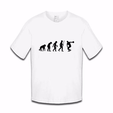 Picture of Evolution Of Man Athletics Discus Boys Tshirt