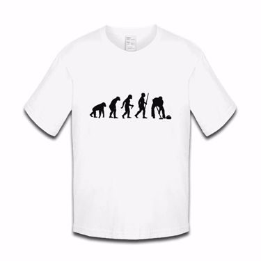 Picture of Evolution Of Man Athletics Ice Curling Boys Tshirt
