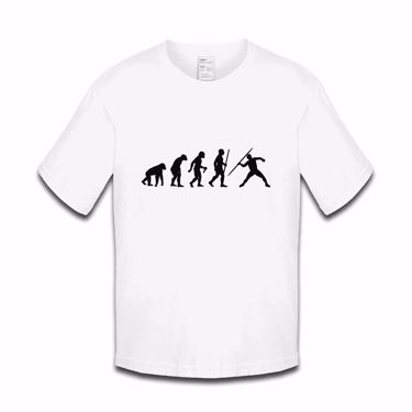Picture of Evolution Of Man Athletics Javelin Boys Tshirt
