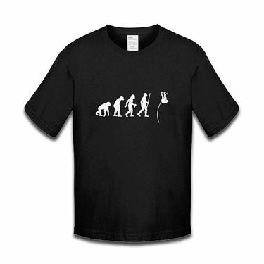 Picture of Evolution Of Man Athletics Pole Jump Boys Tshirt