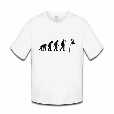 Picture of Evolution Of Man Athletics Pole Jump Boys Tshirt