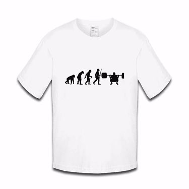 Picture of Evolution Of Man Athletics Weight Lift Boys Tshirt