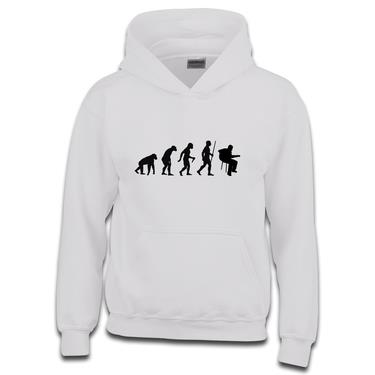Picture of Evolution Of Man Acoustic Guitar Musician Girls Hoodie