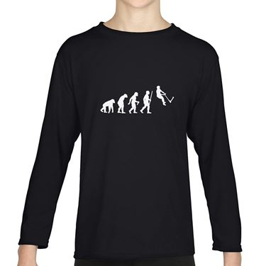 Picture of Evolution Of Man Push Kick Stunt Scooter Girls Long Sleeve Tshirt