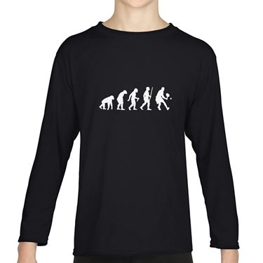 Picture of Evolution Of Man Tennis Girls Long Sleeve Tshirt
