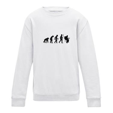 Picture of Evolution Of Man Acoustic Guitar Musician Girls Sweatshirt