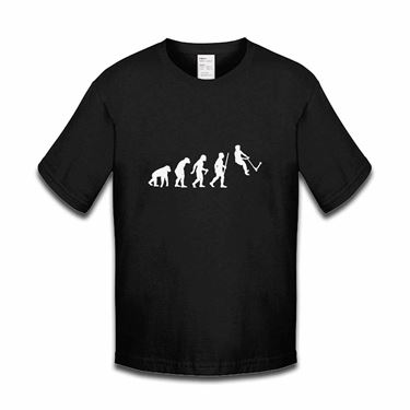 Picture of Evolution Of Man Push Kick Stunt Scooter Girls Tshirt