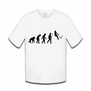 Picture of Evolution Of Man Push Kick Stunt Scooter Girls Tshirt