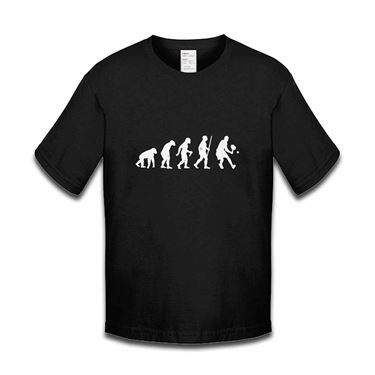 Picture of Evolution Of Man Tennis Girls Tshirt