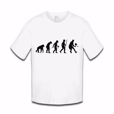 Picture of Evolution Of Man Tennis Girls Tshirt