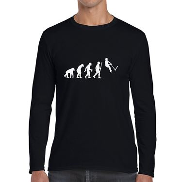 Picture of Evolution Of Man Push Kick Stunt Scooter Mens Long Sleeve Tshirt