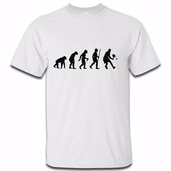 Picture of Evolution Of Man Tennis Mens Tshirt