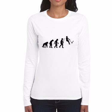 Picture of Evolution Of Man Push Kick Stunt Scooter Womens Long Sleeve Tshirt