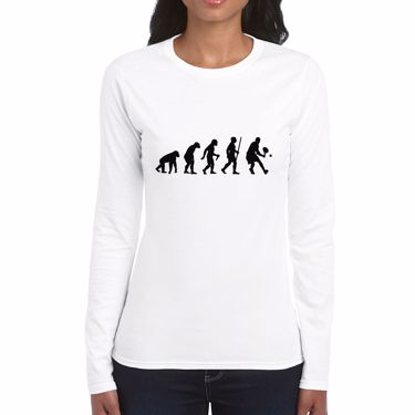 Picture of Evolution Of Man Tennis Womens Long Sleeve Tshirt