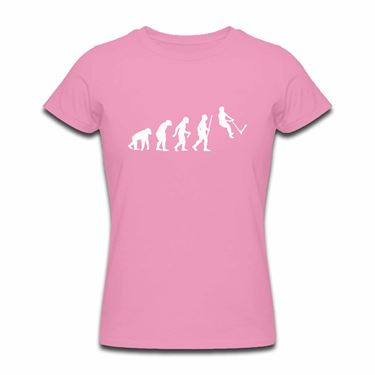 Picture of Evolution Of Man Push Kick Stunt Scooter Womens Tshirt
