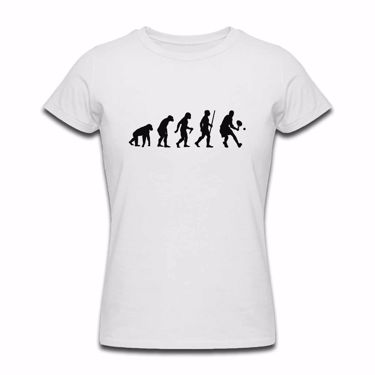 Picture of Evolution Of Man Tennis Womens Tshirt