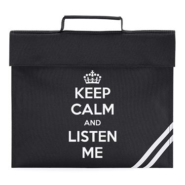 Picture of Keep Calm And Listen Me Book Bag