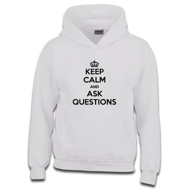 Picture of Keep Calm And Ask Questions Boys Hoodie