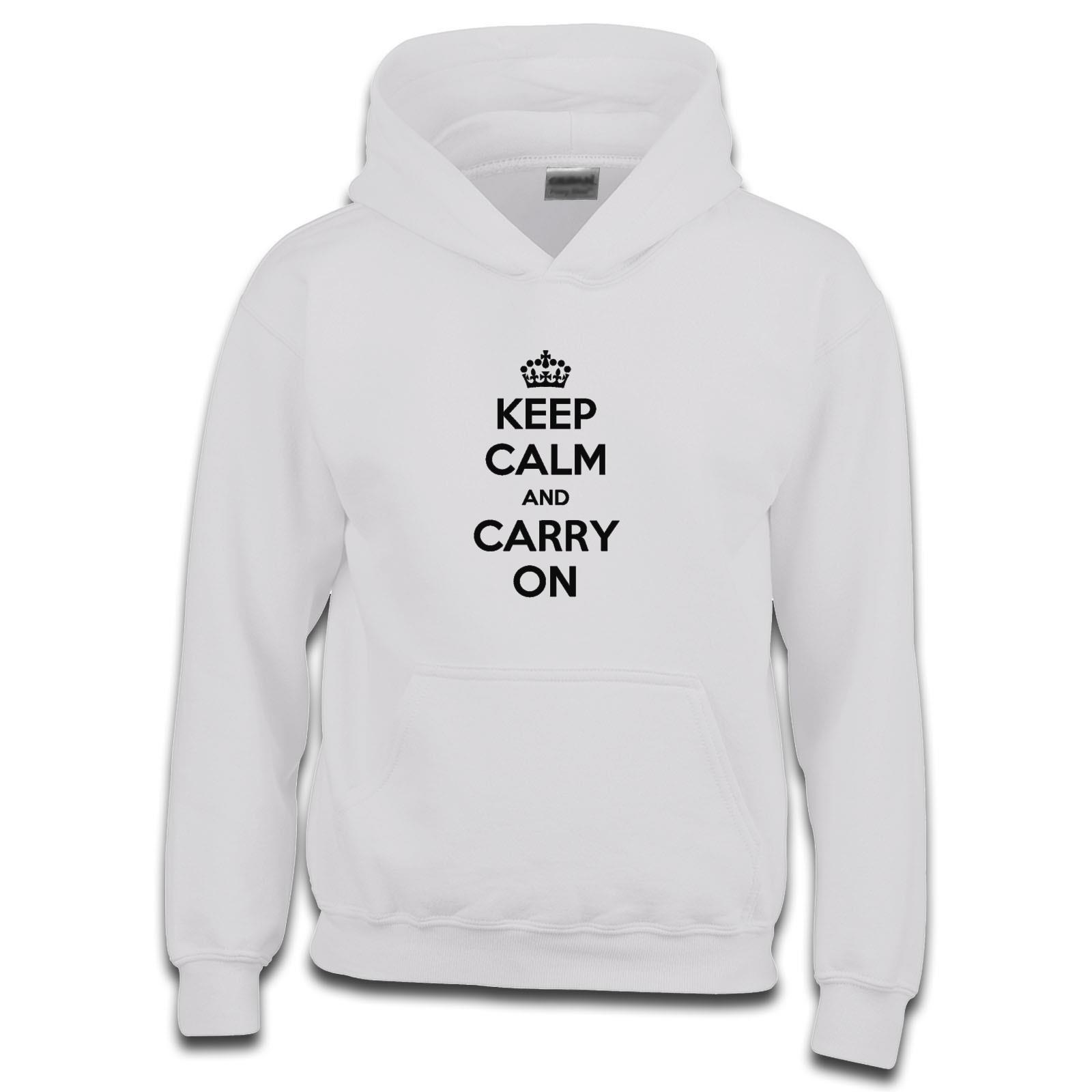 57e530688 Keep Calm And Carry On Boys Hoodie. Available in many colours. Free ...