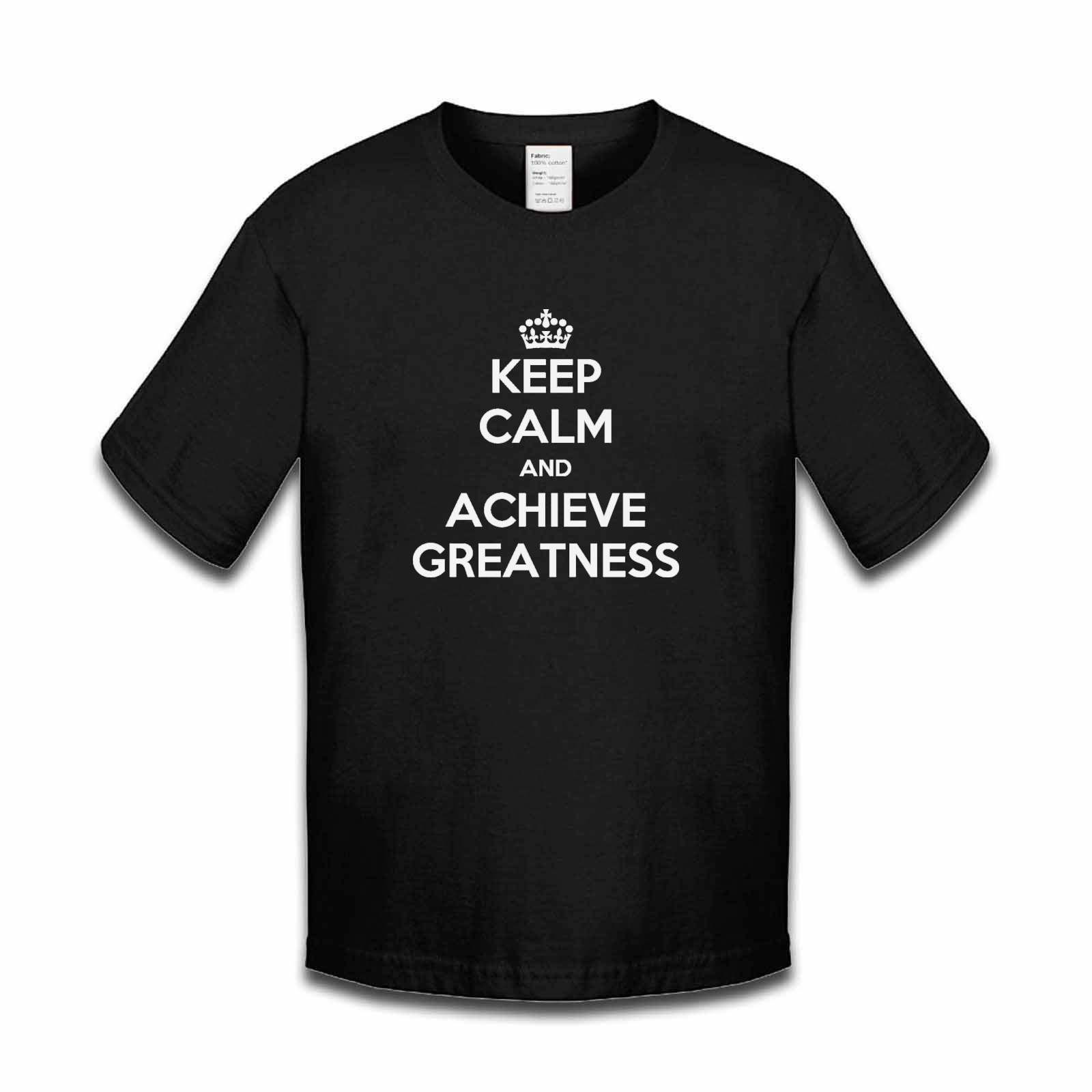 Picture of Keep Calm And Achieve Greatness Boys Tshirt