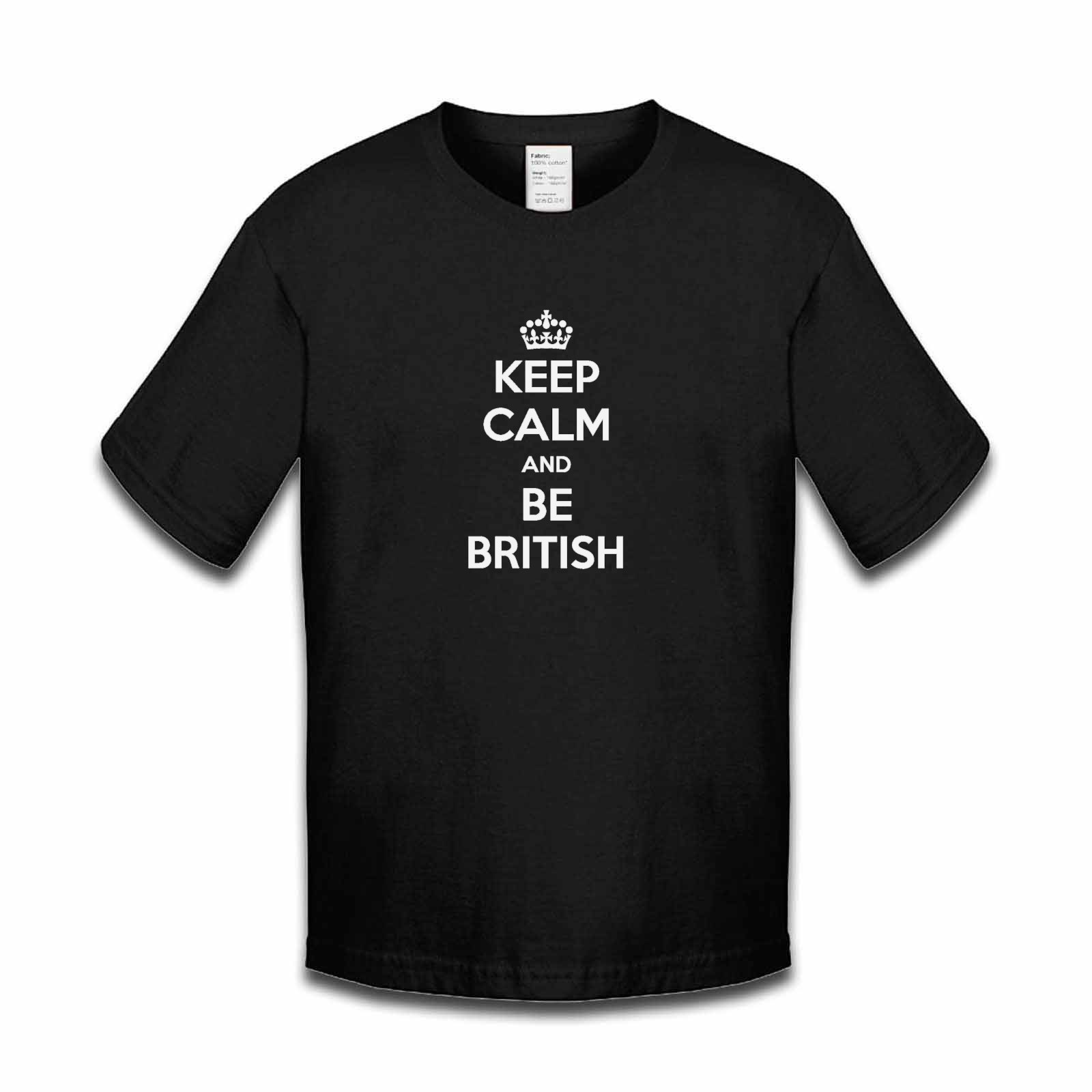 Picture of Keep Calm And Be British Boys Tshirt