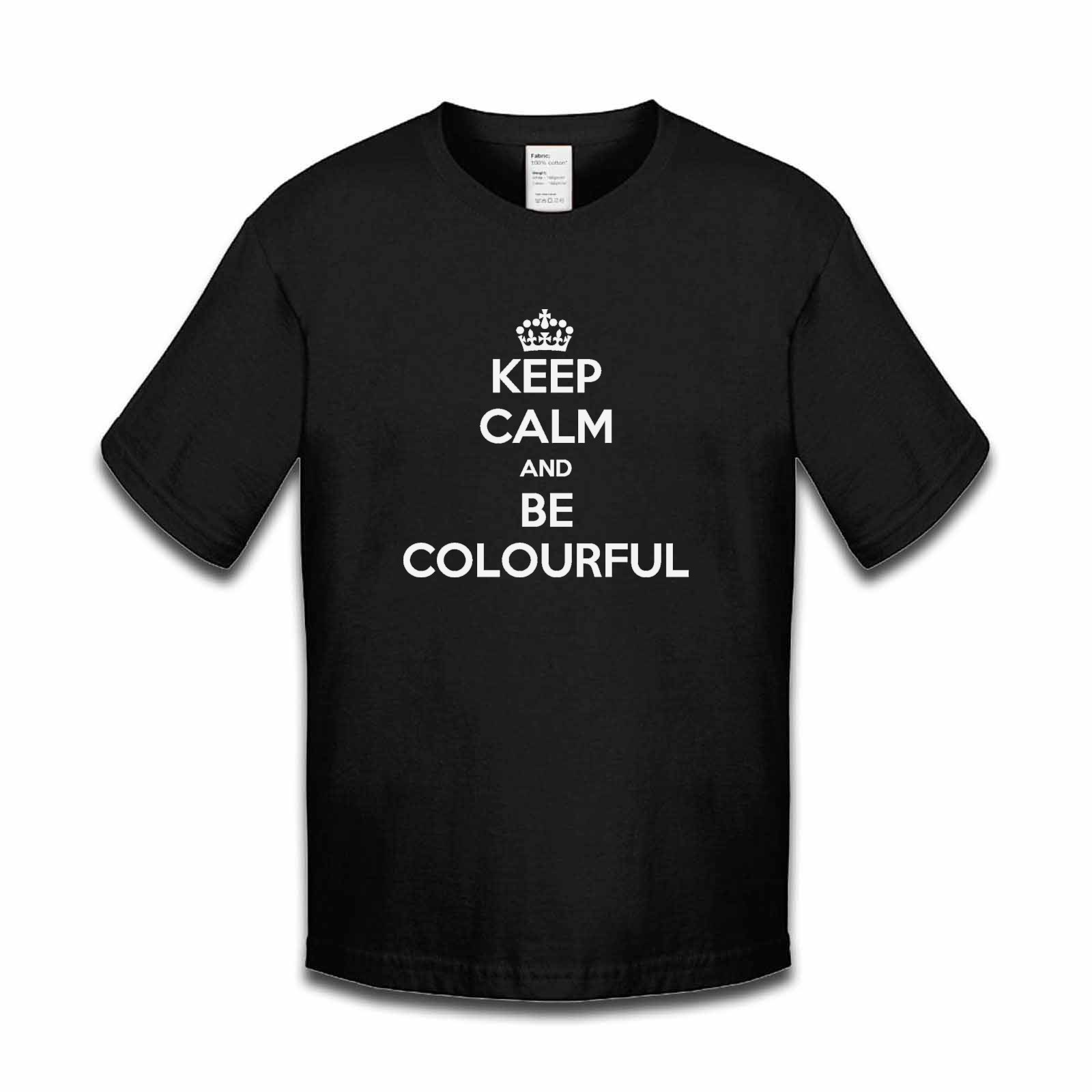 Picture of Keep Calm And Be Colourful Boys Tshirt