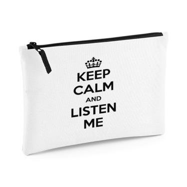 Picture of Keep Calm And Listen Me Large Flat Pencil Case