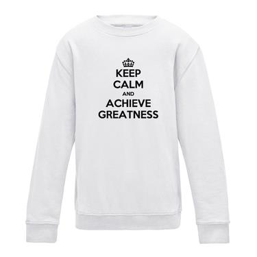 Picture of Keep Calm And Achieve Greatness Girls Sweatshirt