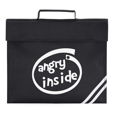 Picture of Angry Inside Parody Logo Book Bag