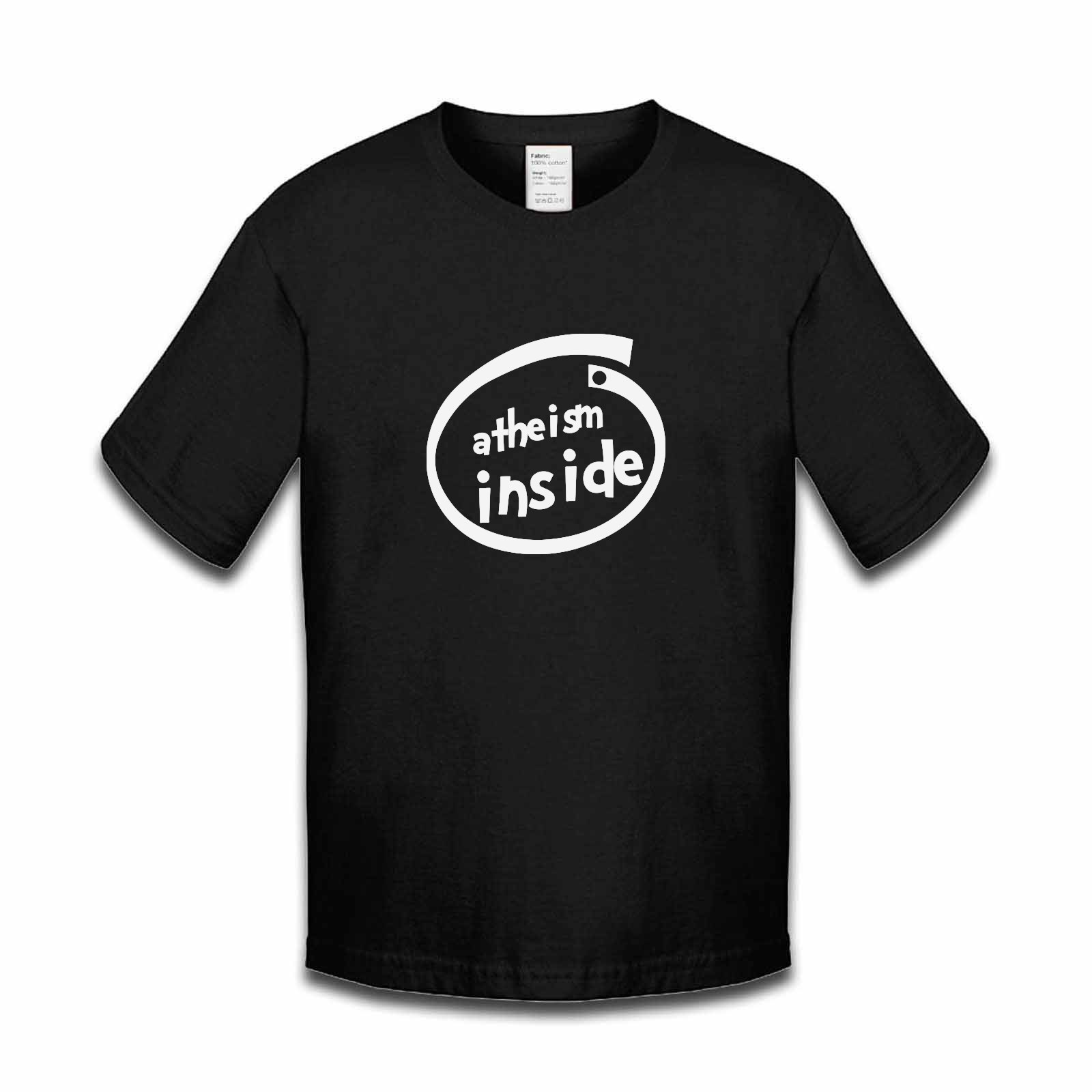 Picture of Atheism Inside Parody Logo Boys Tshirt