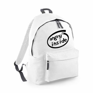 Picture of Angry Inside Parody Logo Fashion Backpack