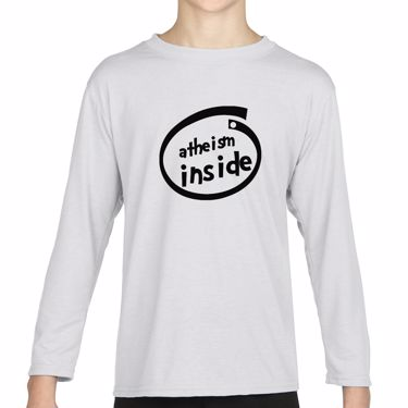 Picture of Atheism Inside Parody Logo Girls Long Sleeve Tshirt