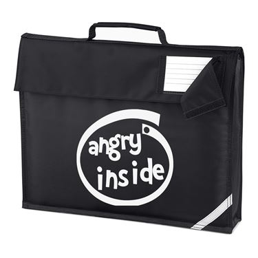 Picture of Angry Inside Parody Logo Homework Bag