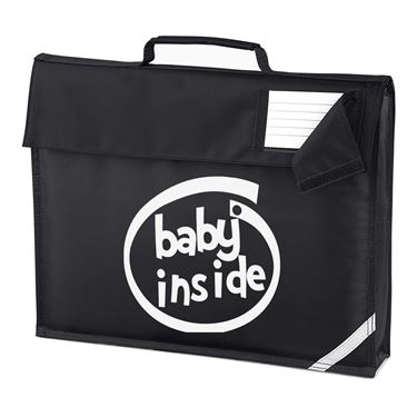 Picture of Baby Inside Parody Logo Homework Bag