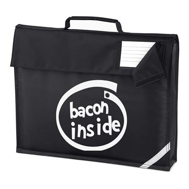 Picture of Bacon Inside Parody Logo Homework Bag
