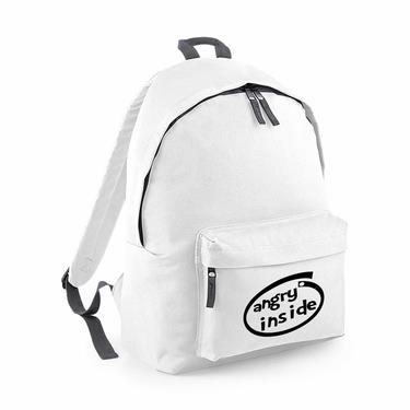 Picture of Angry Inside Parody Logo Junior Backpack