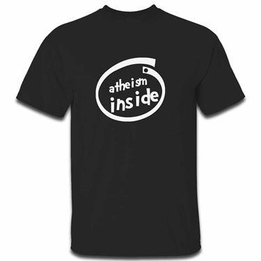 Picture of Atheism Inside Parody Logo Mens Tshirt