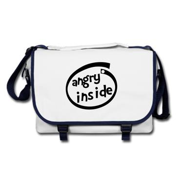 Picture of Angry Inside Parody Logo Messenger Bag